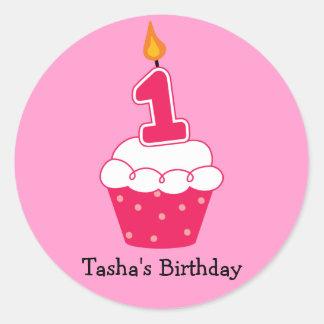 Personalisierte Geburtstags-Kuchen-Aufkleber