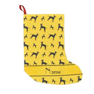 Personalisierte gelbe kleiner weihnachtsstrumpf