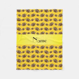 Personalisierte gelbe Namensfußball Fleecedecke