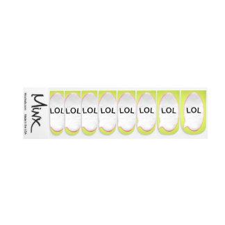 Personalisierte gelbe Sprache-Blase Minx Nagelkunst