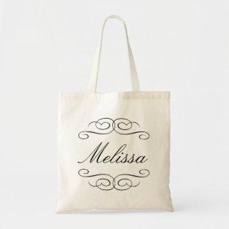 Personalisierte Geschenk-Tasche der Wirblen Skript Budget Stoffbeutel