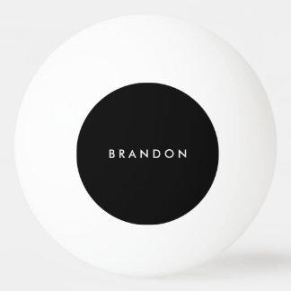 Personalisierte Geschenke für Mann-SchwarzesPing Tischtennis Ball
