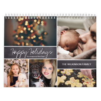 Personalisierte glückliche Feiertage, neues Jahr, Abreißkalender
