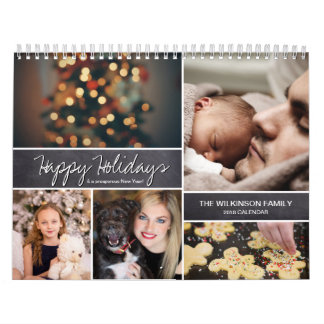 Personalisierte glückliche Feiertage, neues Jahr, Kalender