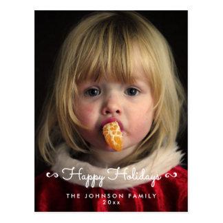 Personalisierte glückliche postkarte