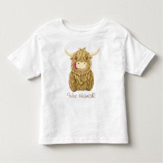 Personalisierte glückliche schottische kleinkinder t-shirt