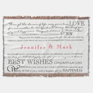 Personalisierte Glückwunsch-Decke Decke