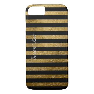 personalisierte goldene Farbstreifen iPhone 8/7 Hülle