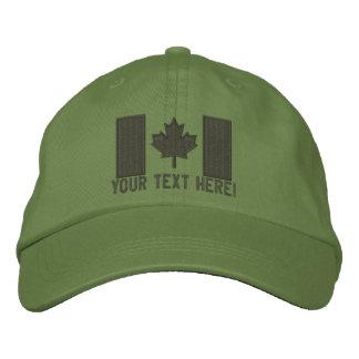 Personalisierte große kanadische Flaggen-Stickerei Bestickte Kappe