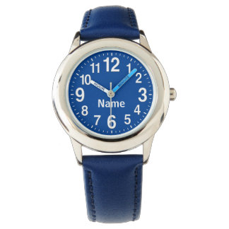 Personalisierte große Zahl-Uhren für Kinder Armbanduhr