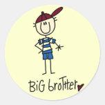 Personalisierte großer Bruder-T-Shirts und Runder Aufkleber