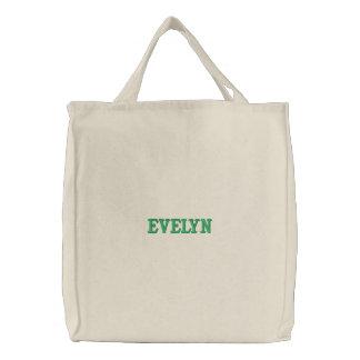 Personalisierte grundlegende Taschen-Tasche Bestickte Taschen