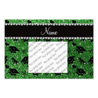 Personalisierte grüne Abschlussherznamensbögen Photos