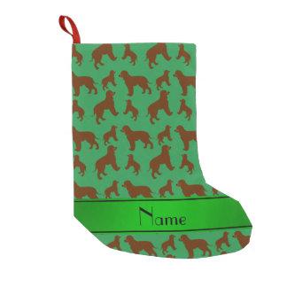 Personalisierte grüne irisches kleiner weihnachtsstrumpf