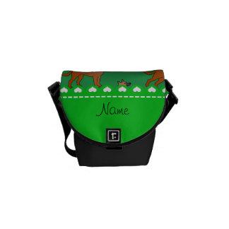 Personalisierte grüne malinois Namenshunde Kuriertasche