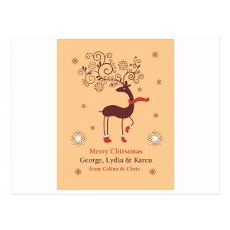 Personalisierte Gruß-Karte für dieses Weihnachten Postkarte