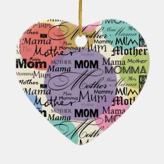 Personalisierte Gruß-Verzierungs-Mutter-Mamma Weihnachtsbaum Ornament