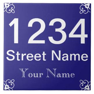 Personalisierte Hausnummer Keramikfliese