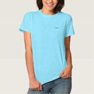 Personalisierte hellblaue Gewohnheit Besticktes T-Shirt