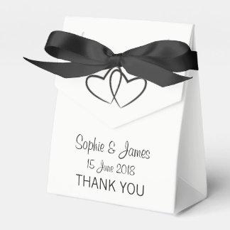 Personalisierte Herz-Hochzeit Geschenkschachtel