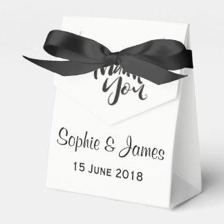 Personalisierte Hochzeit danken Ihnen Geschenkschachtel