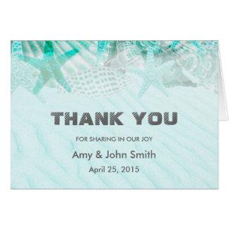 Personalisierte Hochzeit danken Ihnen Karte