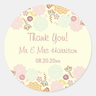 Personalisierte Hochzeit danken Ihnen Runder Aufkleber