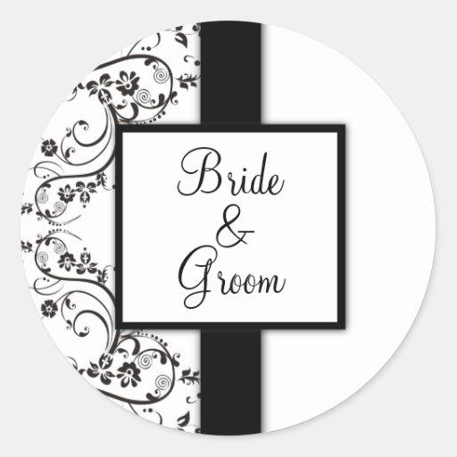 Personalisierte Hochzeits-Aufkleber