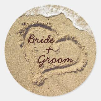 Personalisierte Hochzeits-Aufkleber Runder Aufkleber
