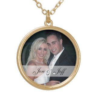Personalisierte Hochzeits-Foto-Halskette Halskette Mit Rundem Anhänger