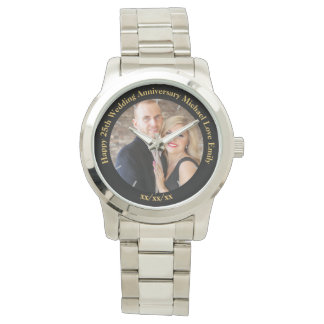 Personalisierte Hochzeits-Jahrestag FOTO Uhr