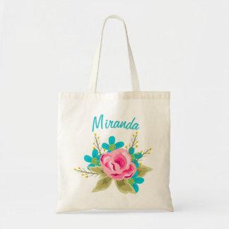 Personalisierte Hochzeits-Taschentasche mit Tragetasche