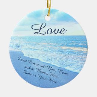 Personalisierte Hochzeits-Verzierungen, Keramik Ornament
