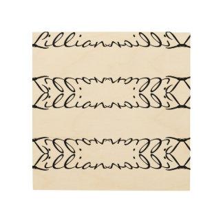 Personalisierte hölzerne Wand-Kunst Holzdruck