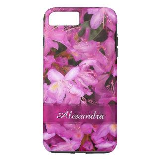 Personalisierte hübsche rosa Blumenphotographie iPhone 7 Plus Hülle