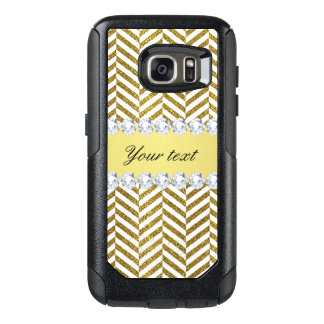 Personalisierte Imitat-Goldfolie Zickzack Bling OtterBox Samsung Galaxy S7 Hülle