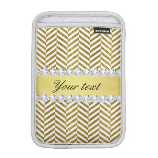 Personalisierte Imitat-Goldfolie Zickzack Bling Sleeve Für iPad Mini