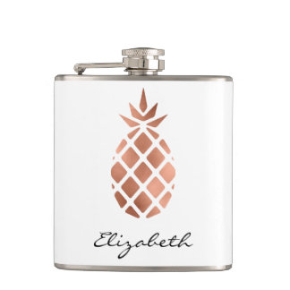 Personalized Faux Rose Gold Foil Pineapple