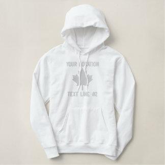 Personalisierte kanadische Ahorn-Blatt-Stickerei Bestickter Hoodie