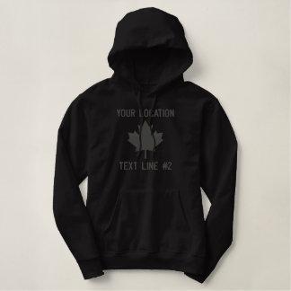 Personalisierte kanadische Ahorn-Blatt-Stickerei Hoodie