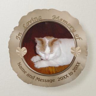 Personalisierte Katzen-Beileids-Geschenke, FOTO Rundes Kissen