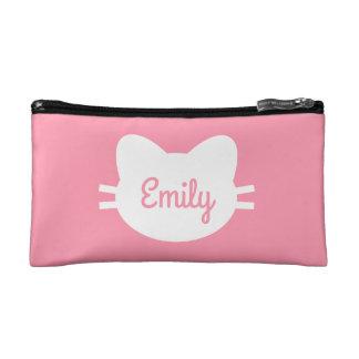 Personalisierte Katzen-Kosmetik-Tasche Makeup-Tasche