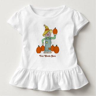 Personalisierte Kinder Vogelscheuche und Kürbis Kleinkind T-shirt
