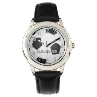 Personalisierte Kinderfußball-Ball-Uhr Handuhr