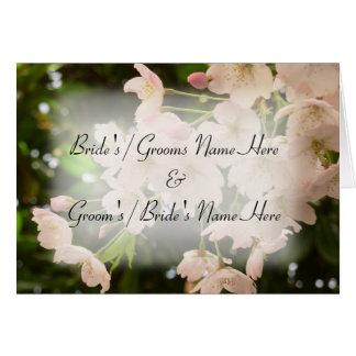Personalisierte Kirschblüten-Karten-Hochzeits-Kart