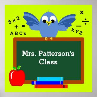 Personalisierte Klassenzimmer-Plakate Poster