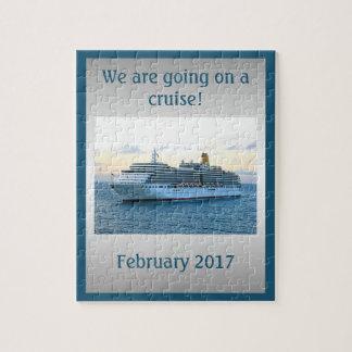 Personalisierte Kreuzfahrt-Überraschung Puzzle