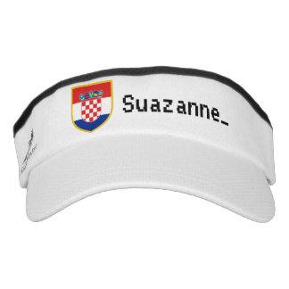 Personalisierte Kroatien-Flagge Visor