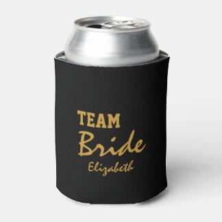 Personalisierte kundengebundene Goldherz-Braut Dosenkühler