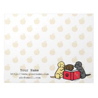 Personalisierte Labrador-Welpen, die Notizblöcke
